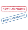 new hampshire textile stamps vector image
