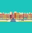old quarter street in modern metropolis vector image vector image