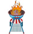 Patriotic barbeque Grill vector image vector image