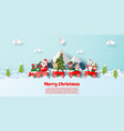 postcard christmas party on christmas train vector image