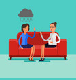 psychological counseling concept vector image vector image