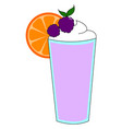 purple jucie with orange on white background vector image