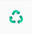 recyclable logo simple plastic free badge eco vector image vector image