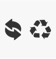 recycle icon black isolated on white background vector image vector image