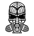robotic smoke helmet vector image vector image