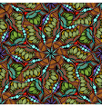 Round mandala seamless pattern vector image