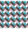 Seamless geometric checked pattern Diagonal vector image