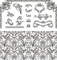 Seamless pattern and design elements vector image vector image