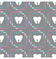 seamless pattern of tooth brushes and teeth vector image vector image