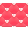 Seamless pattern with white hearts on a pink vector image