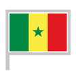 senegal flag on flagpole icon vector image