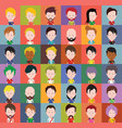 set colorful avatars characters vector image vector image