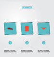 set of clothes icons flat style symbols with shoe vector image