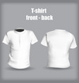 shirt front and back on a gray background stylish vector image vector image