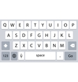 Smartphone keyboard alphabet buttons vector image vector image