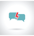 speech bubble lightning vector image