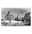 st peters basilica a late renaissance church vector image vector image