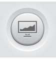 Statistics icon Button Design vector image
