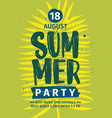 Summer party invitation announcement or flyer
