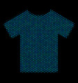 t-shirt collage icon of halftone bubbles vector image