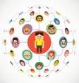 Social Media Globe Network vector image