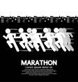 Marathon Runner Sign vector image