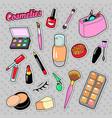 cosmetics beauty fashion makeup elements vector image