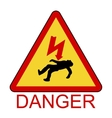 Danger Electrical Hazard High Voltage Sign vector image