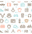 hipster pattern background vector image