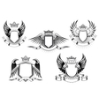 Royal coat of arms templates vector image