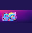 5g network concept banner header vector image vector image