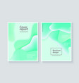 abstract background wave motion flow green vector image