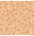 abstract triangle in brown censor skin color vector image