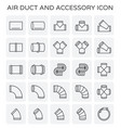 air duct icon vector image vector image