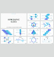 big set of minimal infographic design templates vector image vector image
