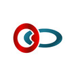 business logo with red and blue circle concept vector image vector image
