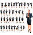 businesswoman set 4 vector image vector image