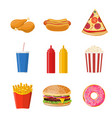 cartoon fast food vector image