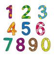 cartoon kids figures set color numbers vector image