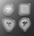 Clamp Glass buttons vector image vector image