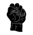 clenched fist symbol icon design beautiful vector image