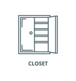 closet line icon linear concept outline vector image vector image
