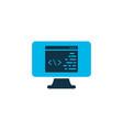 coding icon colored symbol premium quality vector image