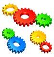 color gears vector image