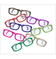 color glasses - mess vector image