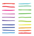 Color highlight stripes colored marker highlighter vector image vector image