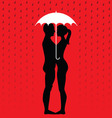 Couple under umbrella vector image vector image