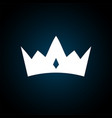 crown icon in trendy flat style isolated royal vector image vector image