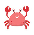cute crab print for kids vector image