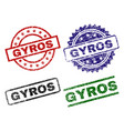 damaged textured gyros stamp seals vector image